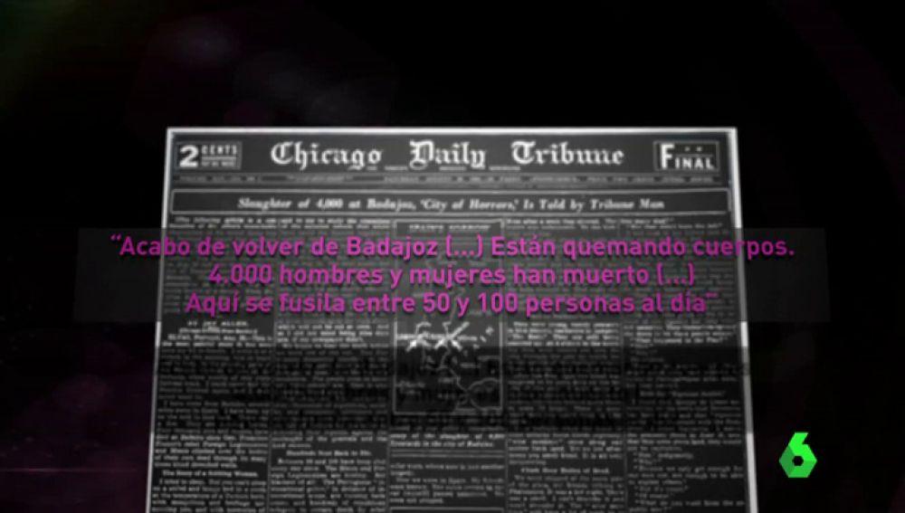 Artículo sobre el franquismo en el Chicago Tribune