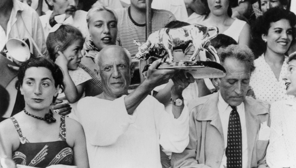 Jacqueline Roque, junto a Pablo Picasso