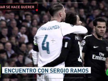 Neymar tuvo mucha complicidad con los jugadores del Real Madrid