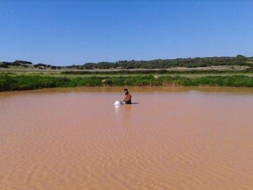 Balsa de agua temporal de Menorca