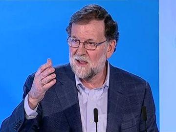 Mariano Rajoy, durante el acto del PP en Elche