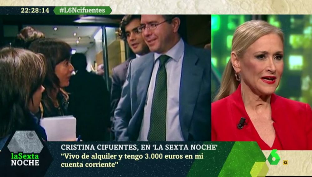 """Cristina Cifuentes, sobre Granados: """"¿A quién van a creer, al que tenía un millón en el altillo o a mí, que vivo alquilada y con 3.000 euros en la cuenta?"""""""