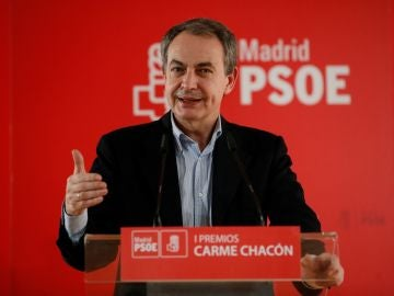 José Luis Rodríguez Zapatero durante la entrega de los Premios Carme Chacón