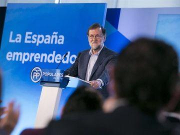 Mariano Rajoy en el acto del PP en Elche