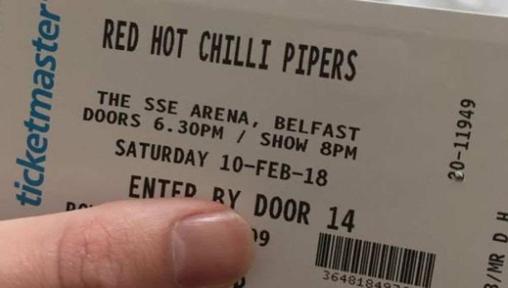 Entrada para el concierto del grupo gaitero 'Red Hot Chili Pipers'
