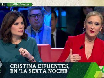 María Llapart pregunta a Cristina Cifuentes en laSexta Noche