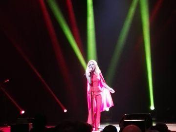 Marta Sánchez, durante su concierto en el Teatro de la Zarzuela