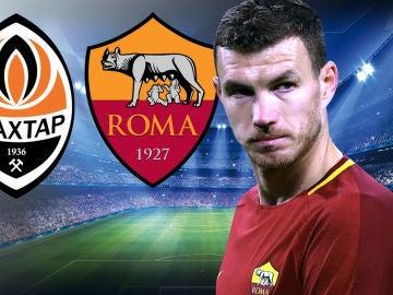 Shakhtar - Roma, partido de octavos de la Champions