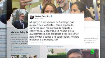 """Mariano Rajoy pide no """"indignar a la mayoría"""" tras la polémica en el pregón del carnaval de Santiago"""
