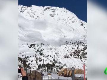 Dos heridos leves en un alud a 2.500 metros de altitud en Suiza