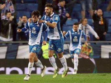 Granero celebra su gol con el Espanyol