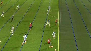 Las polémicas 'líneas' torcidas del VAR en el gol de Mata