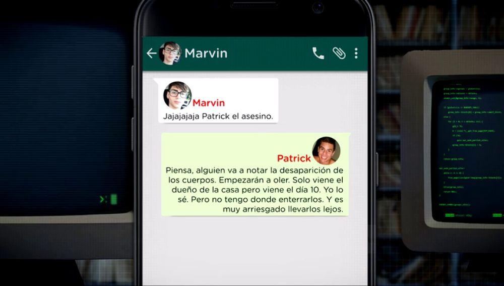 Los mensajes de Patrick Nogueira a su amigo Marvin