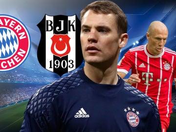 Bayern - Besiktas, duelo de octavos en la Champions League
