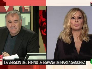 """Marta Sánchez, sobre su versión del himno de España: """"No tiene intención política. Solo quiero que esta letra emocione y una"""""""