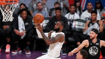 LeBron James, en acción durante el All Star 2018