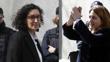 Marta Rovira y Marta Pascal tras declarar ante el juez