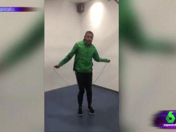Las imágenes de Frank Blanco entrenando para conseguir lucir abdominales