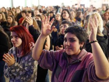 Imagen de un evento en apoyo a la huelga feminista del 8 de marzo