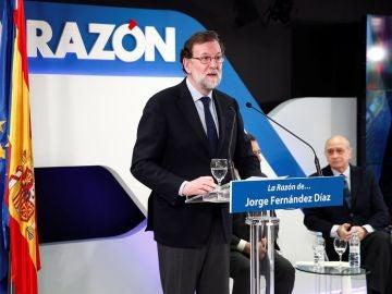 Mariano Rajoy en un acto de La Razón