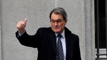 Artur Mas a su llegada al Tribunal Supremo