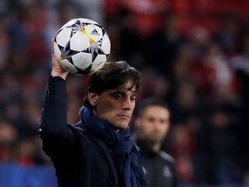 Montella, durante el partido contra el United