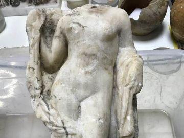 La estatua de afrodita hallada