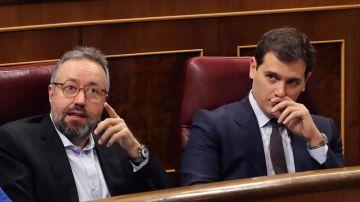 Albert Rivera y Juan Carlos Girauta en una imagen de archivo