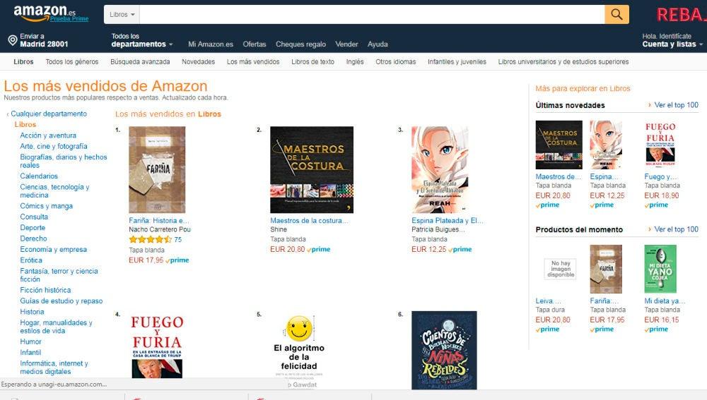 'Fariña' se coloca entre los libros más vendidos en Amazon