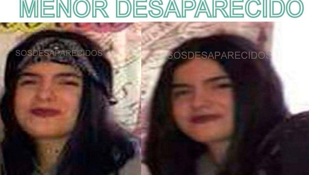 La desaparecida es Rocío Juliana Nieto Zapata, de 14 años