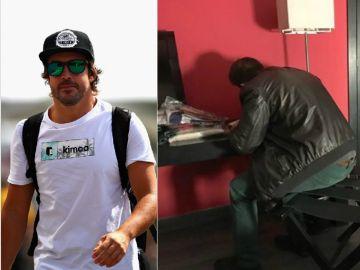 Fernando Alonso y su control antidoping