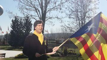 Joaquín Reyes, como Carles Puigdemont para Zanguangos en El Intermedio