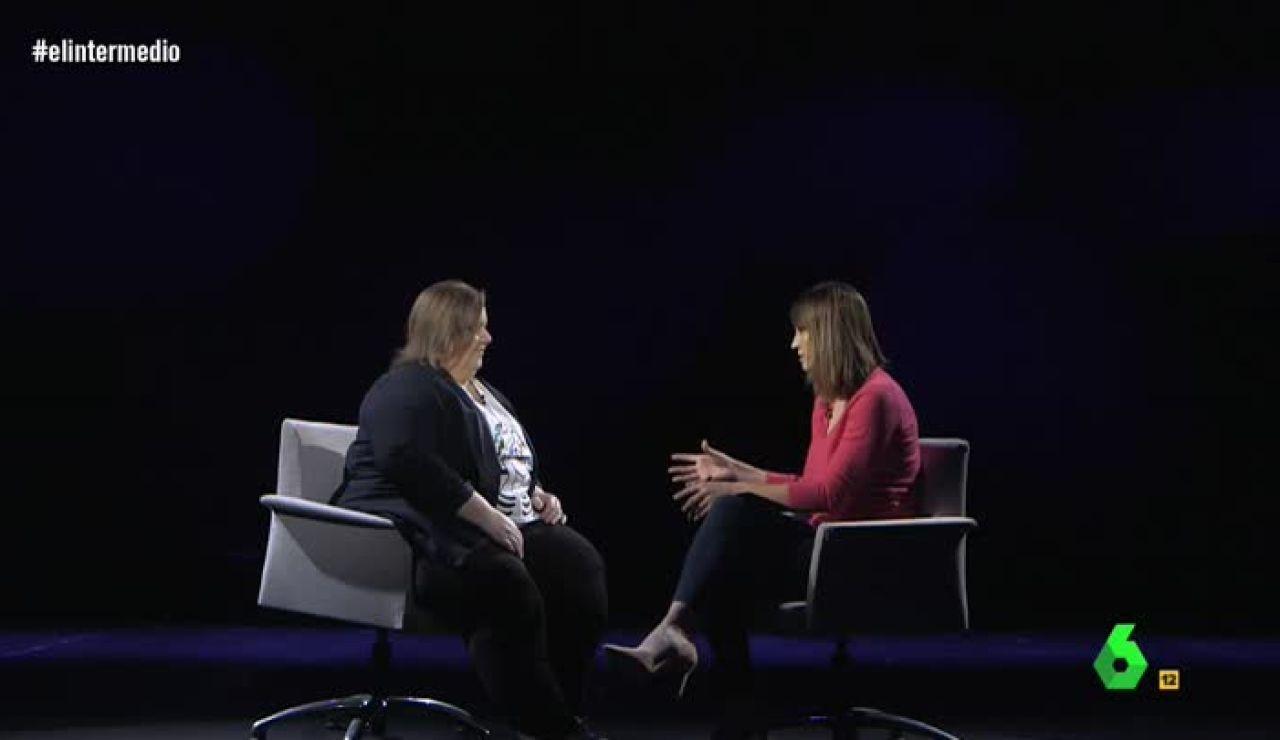 La actriz Itziar Castro habla con Sandra Sabatés