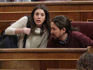 Pablo Iglesias e Irene Montero