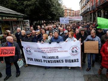 Movilización de pensionistas en Valladolid