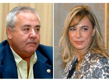 La exalcaldesa de Alicante Sonia Castedo y el exalcalde y predecesor en el cargo, Luis Díaz Alperi.