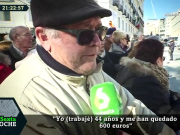 Antonio cobra 600 euros de pensión
