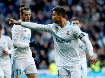 Cristiano celebra el 1-0 ante el Alavés