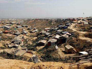 Vista general de uno de los campamentos para refugiados rohinyás