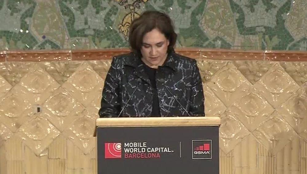 Ada Colau en el Mobile World Congress