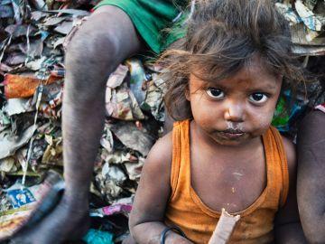 Una niña en India