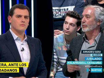 Amadeu Gou pregunta a Albert Rivera en El Objetivo