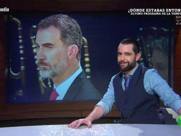 """El análisis de Dani Mateo de la cena en el Mobile Congress: """"Torrent ha tenido suerte de que el rey sea Borbón y no Lannister"""""""