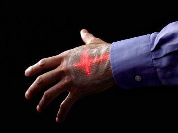 Pantalla LED que se adhiere a la piel