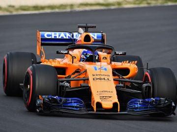 Fernando Alonso, rodando con el MCL33