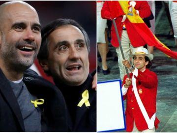 Manel Estiarte cambia la bandera de España por el lazo amarillo