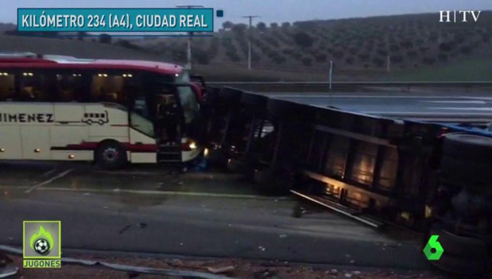 El Ríos Renovables sufre un accidente con su autobús