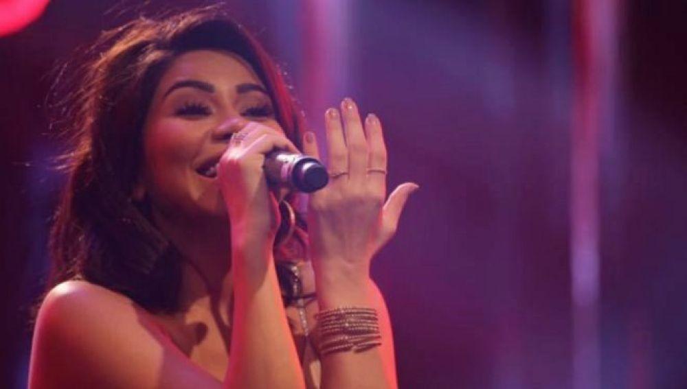 La cantante egipcia, Sherine Abdel Wahab, durante un concierto