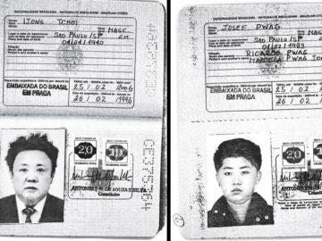 Pasaporte brasileño de Kim Jong-il y Kim Jong-un
