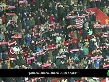 Miles de aficionados en El Molinón despiden a Quini en un emotivo funeral